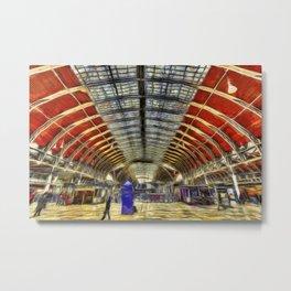 Paddington Railway Station Art Metal Print
