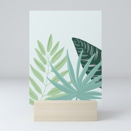 Pastel Tropical Plant Illustration Mini Art Print