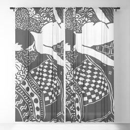 La Paresse by Vallotton Sheer Curtain