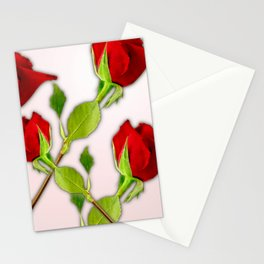Red Rose For My Valentine Day Stationery Cards