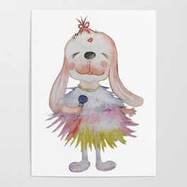 MC Lucky Bunny(white) Poster
