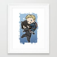 stucky Framed Art Prints featuring Stucky On You by DeanDraws