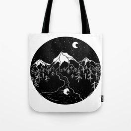 Moon Mountains Tote Bag