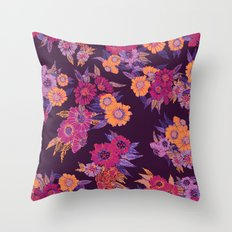 Floral in purple tones Throw Pillow