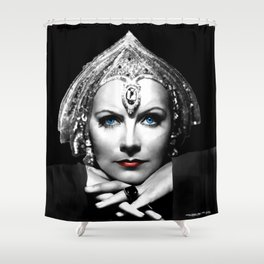 Greta Garbo Portrait Shower Curtain