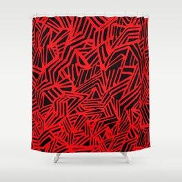 Redline (Black version) Shower Curtain