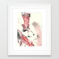 nudes Framed Art Prints featuring nudes by Saffron Lily