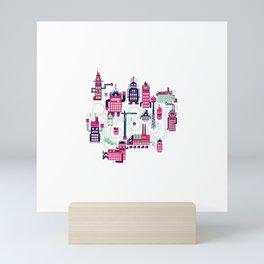 Robo City Mini Art Print