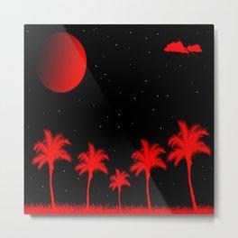 The Red Beach Metal Print