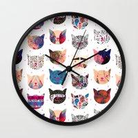 kindle Wall Clocks featuring C.C. iii by Nikola Nupra