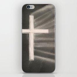Light Shines Through Darkness iPhone Skin