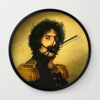 replaceface Wall Clocks featuring Frank Zappa - replaceface by replaceface