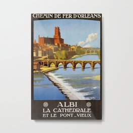 Albi, French Travel Poster Metal Print