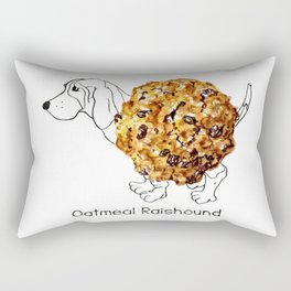 Dog Treats - Oatmeal Raishound Rectangular Pillow