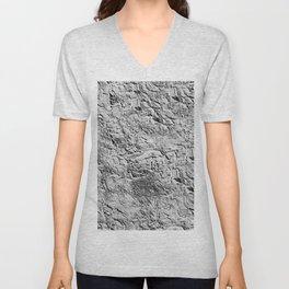 Textured White Unisex V-Neck