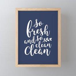 so fresh so clean clean / navy Framed Mini Art Print