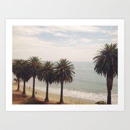 Palms on the Beach Art Print