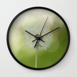 Dandelion in LOVE- Flower Floral Flowers Spring Wall Clock