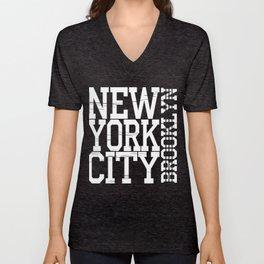 New York City Brooklyn Unisex V-Neck