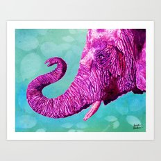 Elephant Cyril. Candy Colored Edition Art Print
