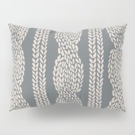 Cable Knit Grey Pillow Sham