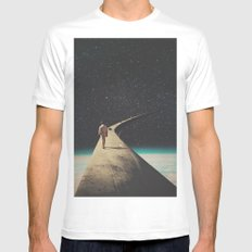 We Chose This Road My Dear MEDIUM White Mens Fitted Tee