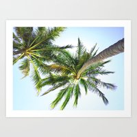 palm trees Art Prints featuring Palm trees by Sary and Saff
