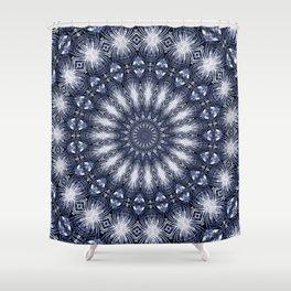 Feathers & Diamonds Mandala Shower Curtain