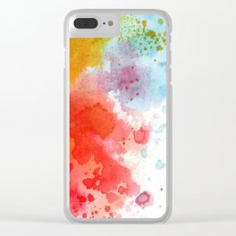 Watercolor abstract in multiple colors Clear iPhone Case
