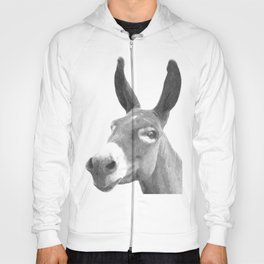 Black and white donkey Hoody