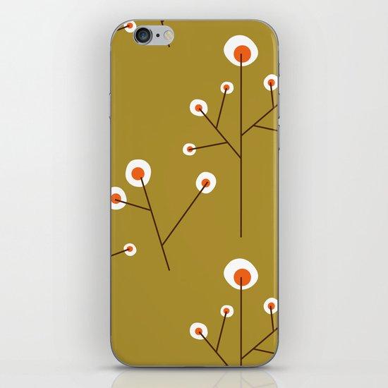 Retro Green Pattern Design iPhone & iPod Skin