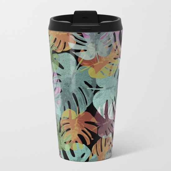Monstera Night Glory Metal Travel Mug