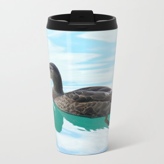 duck and lake Metal Travel Mug