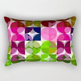Rosas Moradas 1 Abstract Circles 3 Rectangular Pillow