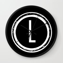 Letter L Monogram Wall Clock