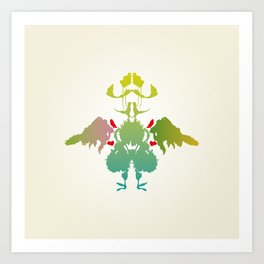 Rorschach Chicken Art Print