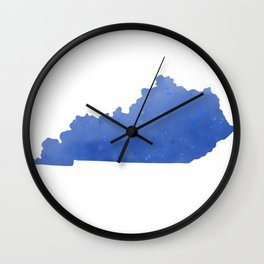 Kentucky State Map Watercolor Print Wall Clock
