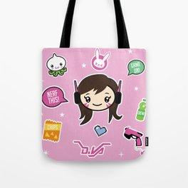 Cute Robot Lady Tote Bag