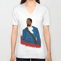 django V-neck T-shirts featuring Django by Anton Lundin