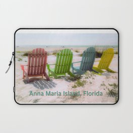 Your Chair Awaits, Anna Maria Island FL Laptop Sleeve