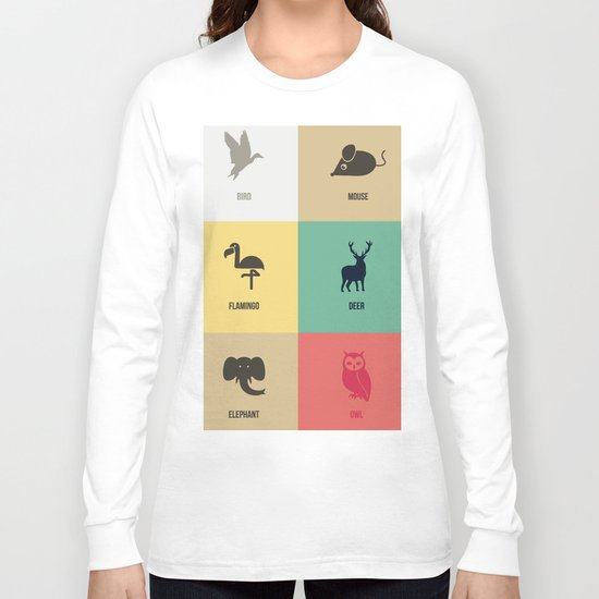 Animals colors Long Sleeve T-shirt
