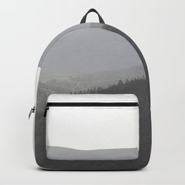 Sunrise with the mountains Backpack