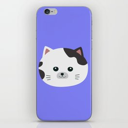 White Cat with spotted fur iPhone Skin