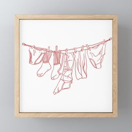 Laundry Day Framed Mini Art Print