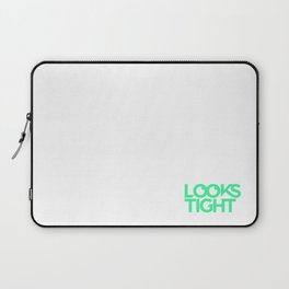 Looks Tight Stacked Logo Laptop Sleeve