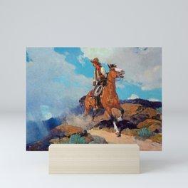 """Cowboy"" by Frank Tenney Johnson Mini Art Print"