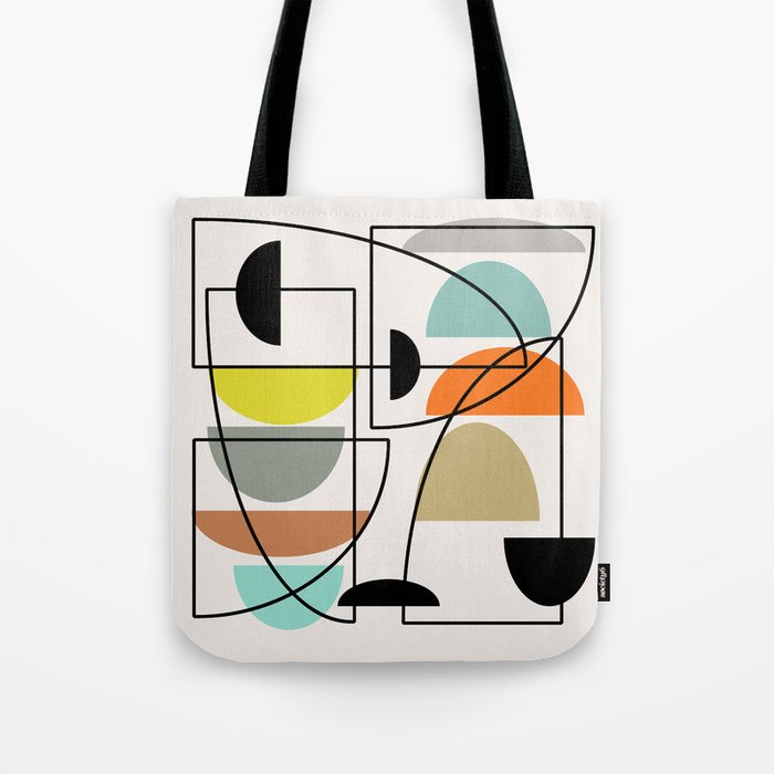 "Mid Century Modern ""Bowls"" Tote Bag"