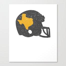 State of Shape of Texas Football Helmet Canvas Print