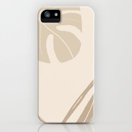 Tropical leaves abstract art background illustration iPhone Case