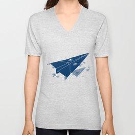 Paper Airplane 11 Unisex V-Neck